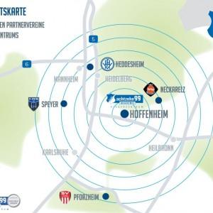 Übersichtskarte - Partnervereine